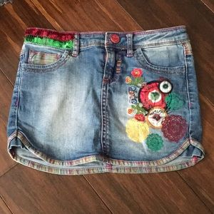 [ DESIGUAL ] KIDS JEAN MINI SKIRT